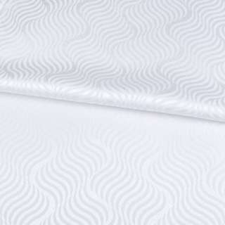 Жаккард скатертный волны белый, ш.320 оптом