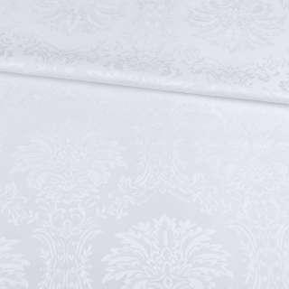 Жаккард скатертный вензеля белый, ш.320 оптом