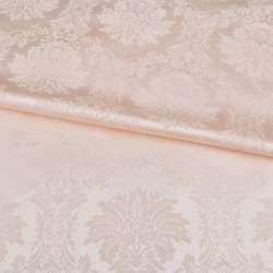 жаккард скатертный вензеля персиковый светлый, ш.320 оптом