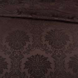 жаккард скатертный вензеля коричневый, ш.320 оптом