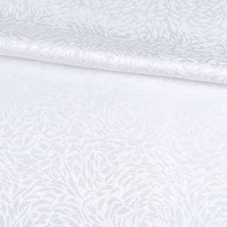 Жаккард скатертный розы белый, ш.320 оптом