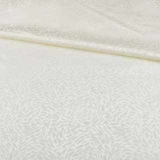 Жаккард скатертный розы молочный, ш.320 оптом