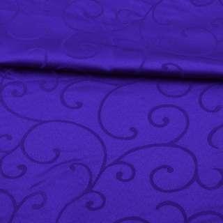 Жаккард скатертный завитки синий ультра, ш.320 оптом