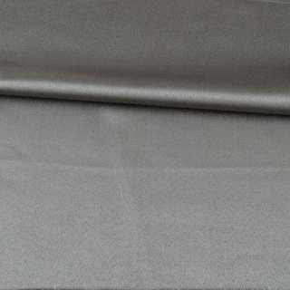 Скатеркова тканина з атласним блиском сіра, ш.310 оптом