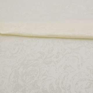 Жаккард скатертный розы крупные молочный, ш.320 оптом