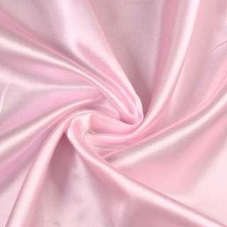 ткань порт.розовая атлас.глад. оптом