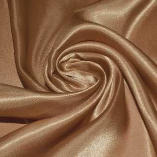 Атлас портьерный коричневый светлый с рыжим отливом ш.280 оптом
