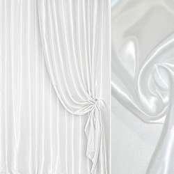 Атлас портьерный белый с серым оттенком ш.280 оптом