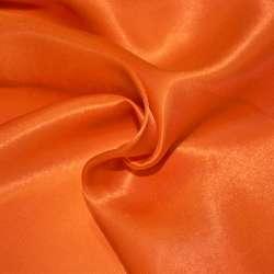 Атлас портьерный оранжево-красный ш.280