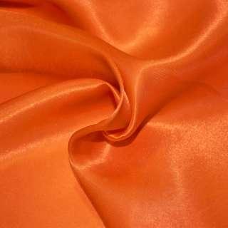 Атлас портьерный оранжево-красный ш.280 оптом