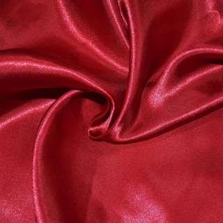 Атлас портьерный красный ш.280 оптом