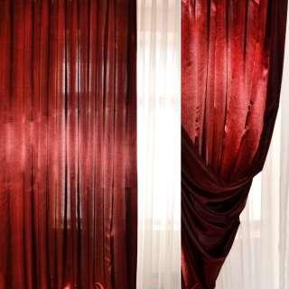 Атлас портьерный хамелеон бордово-черный ш.280 оптом