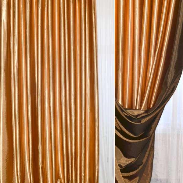Атлас портьерный хамелеон темное-золото с черным ш.280 оптом