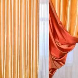 Атлас портьерный хамелеон золотисто-оранжевый ш.270 оптом