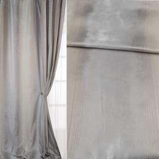 Шанзелизе для штор зі сріблястою ниткою молочно-сіра, ш.310 оптом