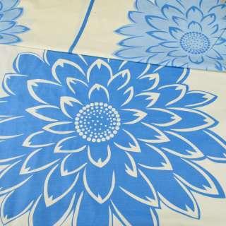 бязь набив. желтая в светло-синие цветы ш.220 оптом