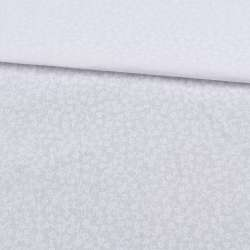 Бязь набив. белая в мелкие белые цветы, ш.220 оптом