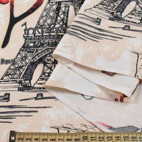 Бязь набив. бежевая, Paris, ш.220 оптом