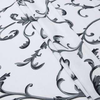 Бязь набивна біла в сірі завитки ш.220 оптом