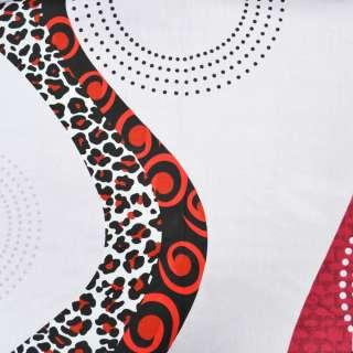 """Бязь набивна блідо-бузкова з геометричним малюнком і """"леопардом"""" ш.220 оптом"""