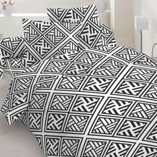 Бязь набивна біла, чорний геометричний малюнок, ш.220 оптом