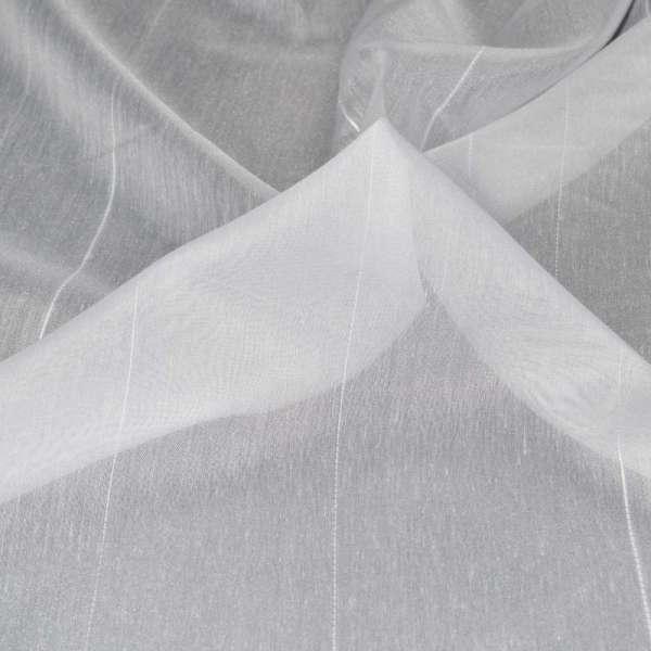 Батист гардинный белый с ниточной полоской ш.300 оптом