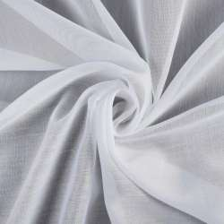 Батист гардинный белый в широкую белую полоску Германия, ш.300 оптом