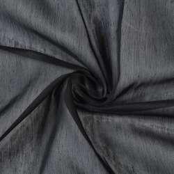 Батист гардинный черный, с утяжелителем, ш.300 оптом