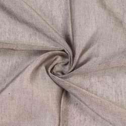 Батист гардинный бежево-коричневый, с утяжелителем, ш.300 оптом