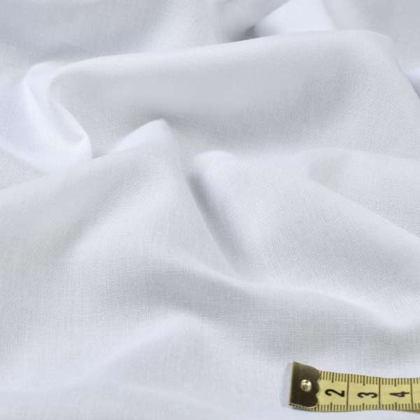 Батист гардинный белый плотный, с утяжелителем, ш.300 оптом