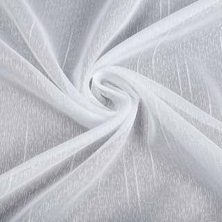 Креп-тюль белая в черточки и длинные штрихи, с утяжелителем, ш.150 оптом