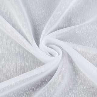 Вуаль белая в густые ниточные полоски, с утяжелителем, ш.180 оптом