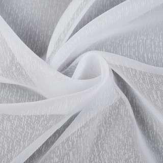 Вуаль белая в густые ниточные полоски, с утяжелителем, ш.260 оптом