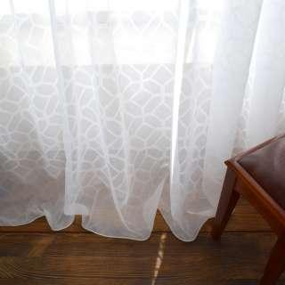 Вуаль жаккардовая біла шестикутники з обважнювачем ш.290 оптом