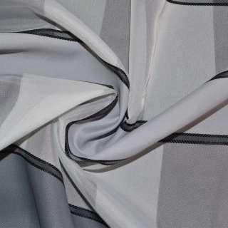 Вуаль біла з атласними сірими смужками Німеччина ш.150 оптом