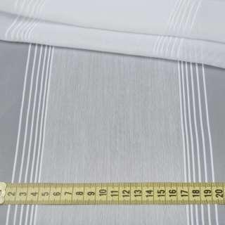 Вуаль белая с узкими жаккардовыми и широкими льняными полосами с утяжелителем, ш.300 оптом