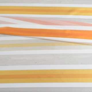Вуаль біла з різнокольоровими атласними смужками без обважнювача (асорті), ш148 оптом