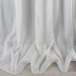 Вуаль біла з золотистими смужками з обважнювачем ш.300 оптом