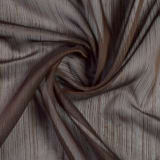 Вуаль коричневая с шелковыми коричневыми нитями с утяжелителем, ш.300 оптом