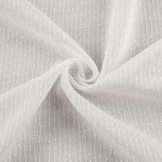 Вуаль біла в ниткову узелковую смужку з обважнювачем ш.280 оптом