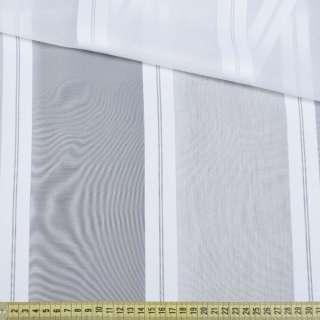 Вуаль белая с атласными белыми полосками, с утяжелителем, ш.180 оптом