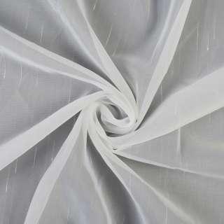 Вуаль тюль штрихи ущільнені, молочна з обважненювачем, ш.300 оптом