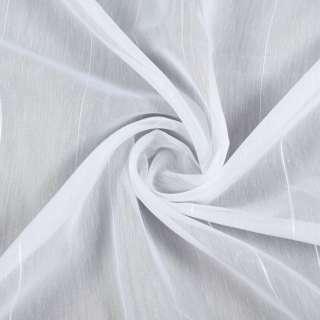 Вуаль белая в ниточные полосы с уплотнением, ш.260 оптом