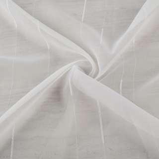 Вуаль біла з ниткової смужкою з обважнювачем ш.260 оптом