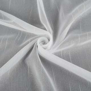Вуаль біла в ниткові штрихи з обважнювачем ш.250 оптом