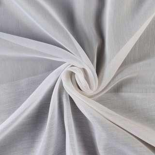Вуаль тюль смужки бежеві, біла без обважнювача, ш.300 оптом