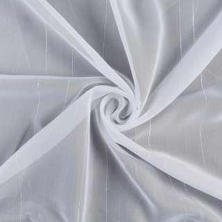 Вуаль тюль смуги ниткові, біла з обважнювачем, ш.300 оптом