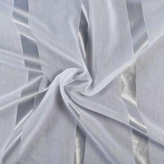 Вуаль тюль смужки 3 см, біла з обважнювачем, ш.300 оптом