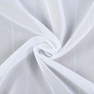 Вуаль белая с ниточными полосками, с утяжелителем, ш.300 оптом