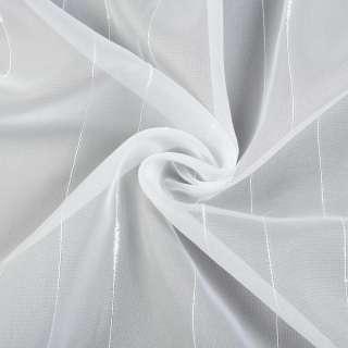 Вуаль белая с ниточными полосами, с утяжелителем, ш.300 оптом